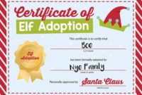 50 Of The Best Elf On The Shelf Names (Free Printables!) – I in Unique Elf Adoption Certificate Free Printable