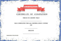 55+ Free Certificate Of Completion Templates | Demplates for Unique Certificate Of Completion Templates Editable