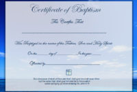 58 With Certificate Samples In Word – Resume Format inside Baptism Certificate Template Word Free