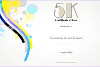 5K Certificate Of Completion Template Free 1 In 2020 inside 5K Race Certificate Templates
