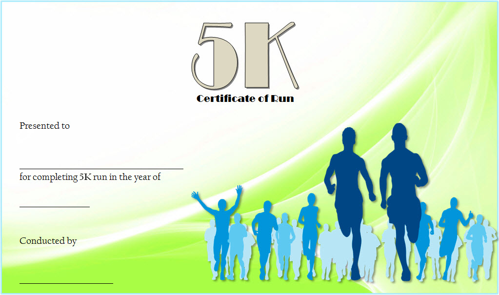 5K Certificate Of Completion Template Free 2 In 2020 Throughout 5K Race Certificate Template