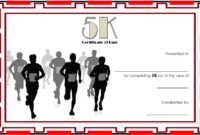 5K Certificate Of Completion Template Free 3 In 2020 in Marathon Certificate Template 7 Fun Run Designs