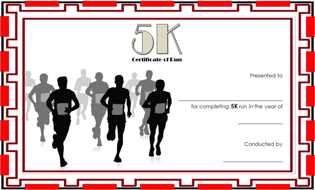 5K Certificate Of Completion Template Free 3 In 2020 inside Fresh 5K Race Certificate Templates