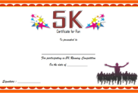 5K Participation Certificate Template Free 3 In 2020 in 5K Race Certificate Templates