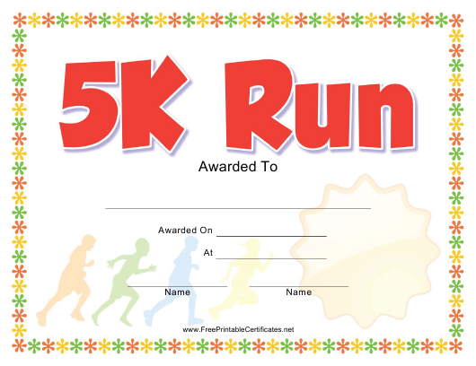 5K Run Award Certificate Template Download Printable Pdf Pertaining To 5K Race Certificate Templates