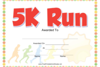 5K Run Award Certificate Template Download Printable Pdf with Unique 5K Race Certificate Template