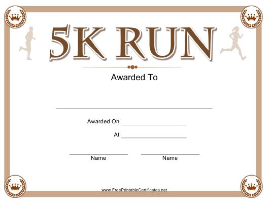 5K Run Certificate Template Download Printable Pdf For 5K Race Certificate Template