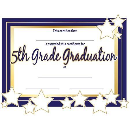 5Th Grade Graduation Certificates | Anderson'S | Graduation For Best Grade Promotion Certificate Template Printable