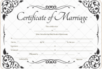 60+ Marriage Certificate Templates (Word | Pdf) Editable for Fresh Marriage Certificate Editable Template