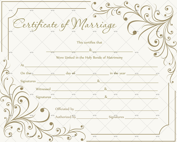 60+ Marriage Certificate Templates (Word | Pdf) Editable In Best Marriage Certificate Template Word 10 Designs