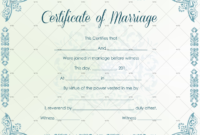 60+ Marriage Certificate Templates (Word | Pdf) Editable within Marriage Certificate Template Word 10 Designs