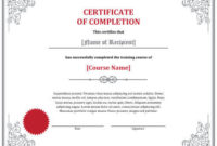 7 Certificates Of Completion Templates [Free Download] | Hloom with regard to Fresh Training Completion Certificate Template