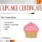 7+ Cupcake Wars Certificate Free Printables for Cupcake Certificate Template Free 7 Sweet Designs