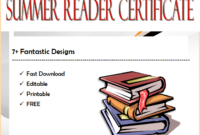 7+ Fantastic Summer Reading Certificate Templates Free in Fresh Free Choir Certificate Templates 2020 Designs