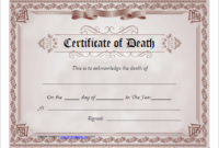 7 Free Death Certificate Templates – Formats & Designs pertaining to Death Certificate Template