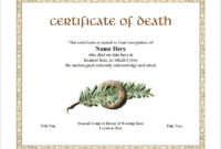 7 Free Death Certificate Templates – Formats & Designs regarding Best Death Certificate Template