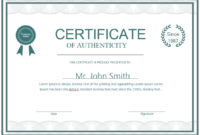 7 Free Sample Authenticity Certificate Templates – Printable for Unique Certificate Of Authenticity Free Template