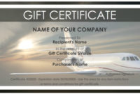 7 Free Sample Travel Gift Certificate Templates – Printable with Fresh Travel Gift Certificate Editable