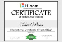 7 Training Certificate Templates [Free Download] | Hloom within Best Training Course Certificate Templates