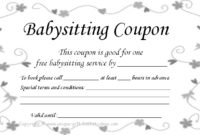 8 Best Printable Babysitting Voucher Template – Printablee pertaining to 7 Babysitting Gift Certificate Template Ideas