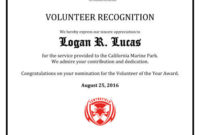 8 Free Printable Certificates Of Appreciation Templates   Hloom throughout Volunteer Of The Year Certificate 10 Best Awards