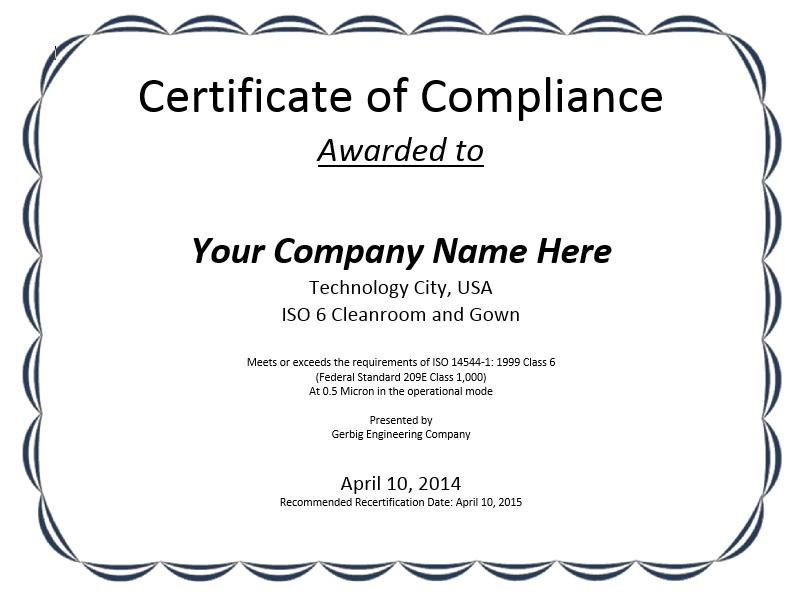 8 Free Sample Professional Compliance Certificate Templates Regarding Certificate Of Compliance Template