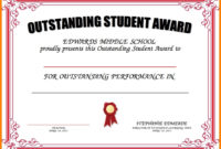 8+ Student Award Certificate Examples – Psd, Ai, Doc regarding Outstanding Student Leadership Certificate Template Free