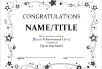 9+ Congratulation Certificate Templates | Free Printable for Great Job Certificate Template Free 9 Design Awards