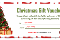 9 Free Christmas Gift Certificate Templates Using Ms Word with regard to Unique Christmas Gift Certificate Template Free