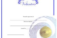 9 Free Sample Volunteer Certificate Templates – Printable in Fresh Volunteer Certificate Templates