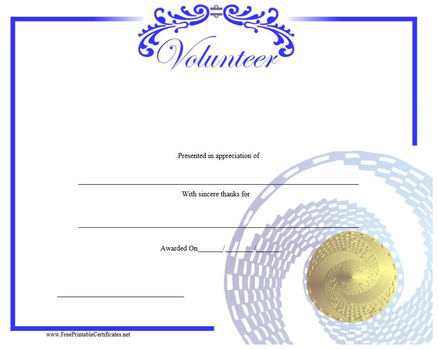 9 Free Sample Volunteer Certificate Templates - Printable In Fresh Volunteer Certificate Templates