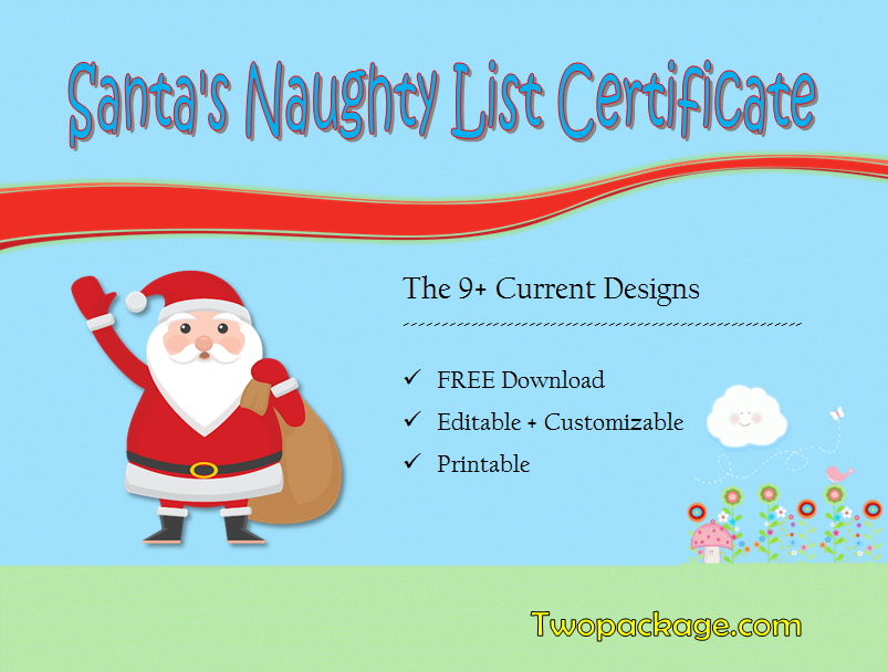 9+ Santa Naughty List Certificate Templates Free Download for Best Free 9 Naughty List Certificate Templates