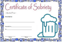 9 Sobriety Certificate Template Ideas | Certificate in Unique Sobriety Certificate Template 10 Fresh Ideas Free