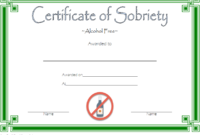 9 Sobriety Certificate Template Ideas | Certificate inside Unique Sobriety Certificate Template 10 Fresh Ideas Free