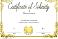 9 Sobriety Certificate Template Ideas | Certificate pertaining to Unique Sobriety Certificate Template 10 Fresh Ideas Free