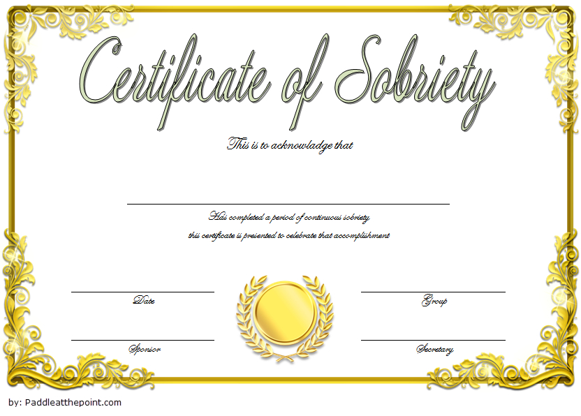 9 Sobriety Certificate Template Ideas | Certificate throughout Fresh Certificate Of Sobriety Template Free