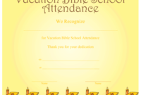 A Printable Certificate Recognizing Vacation Bible School throughout Best Vbs Attendance Certificate Template