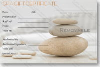 A Simple Day At The Spa Gift Certificate Template | Massage for Free Spa Gift Certificate Templates For Word