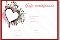 Abstract Heart Gift Certificate Template – Certificate Templates pertaining to Best Valentine Gift Certificate Template