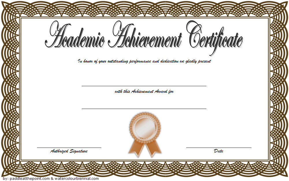 Academic Achievement Award Certificate Template Free 02 In Regarding Fresh Certificate Of Academic Excellence Award