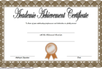 Academic Achievement Award Certificate Template Free 02 In with regard to Best Academic Achievement Certificate Template