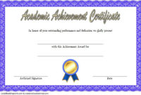 Academic Achievement Certificate Template 1 Free | Awards intended for Outstanding Effort Certificate Template