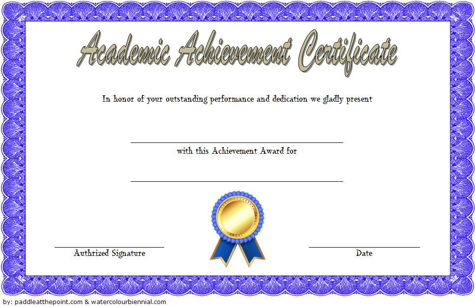Academic Achievement Certificate Template 1 Free | Awards pertaining to Academic Achievement Certificate Templates