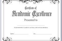 Academic Award Certificate Template Free | Vincegray2014 in Academic Achievement Certificate Templates