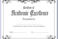 Academic Award Certificate Template Free | Vincegray2014 inside Best Academic Achievement Certificate Template