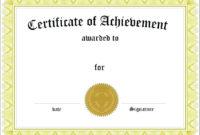 Academic Certificate Templates | Certificate Templates in Unique Superlative Certificate Template