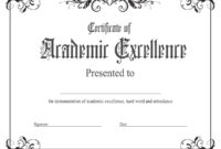 Academic Excellence Award : Kukook with regard to Unique Academic Excellence Certificate