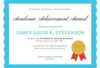 Academic Excellence Certificate | Awards Certificates with regard to Certificate Of Academic Excellence Award