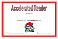 Accelerated Reader Certificate Printable Free 3 In 2020 regarding Star Reader Certificate Template Free