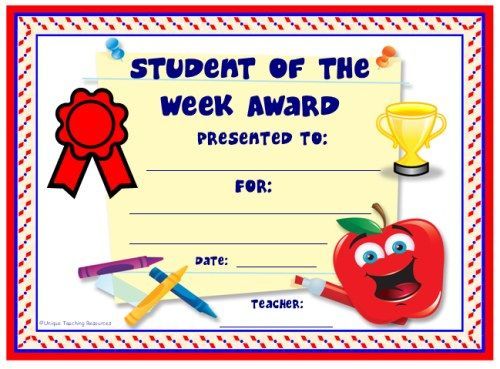 Achievement Award Certificates | Student Certificates Throughout Unique Student Of The Week Certificate